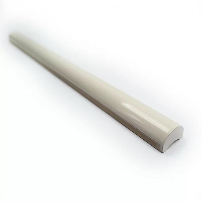 catalina 12 x 0 75 ceramic pencil liner tile trim in vanilla