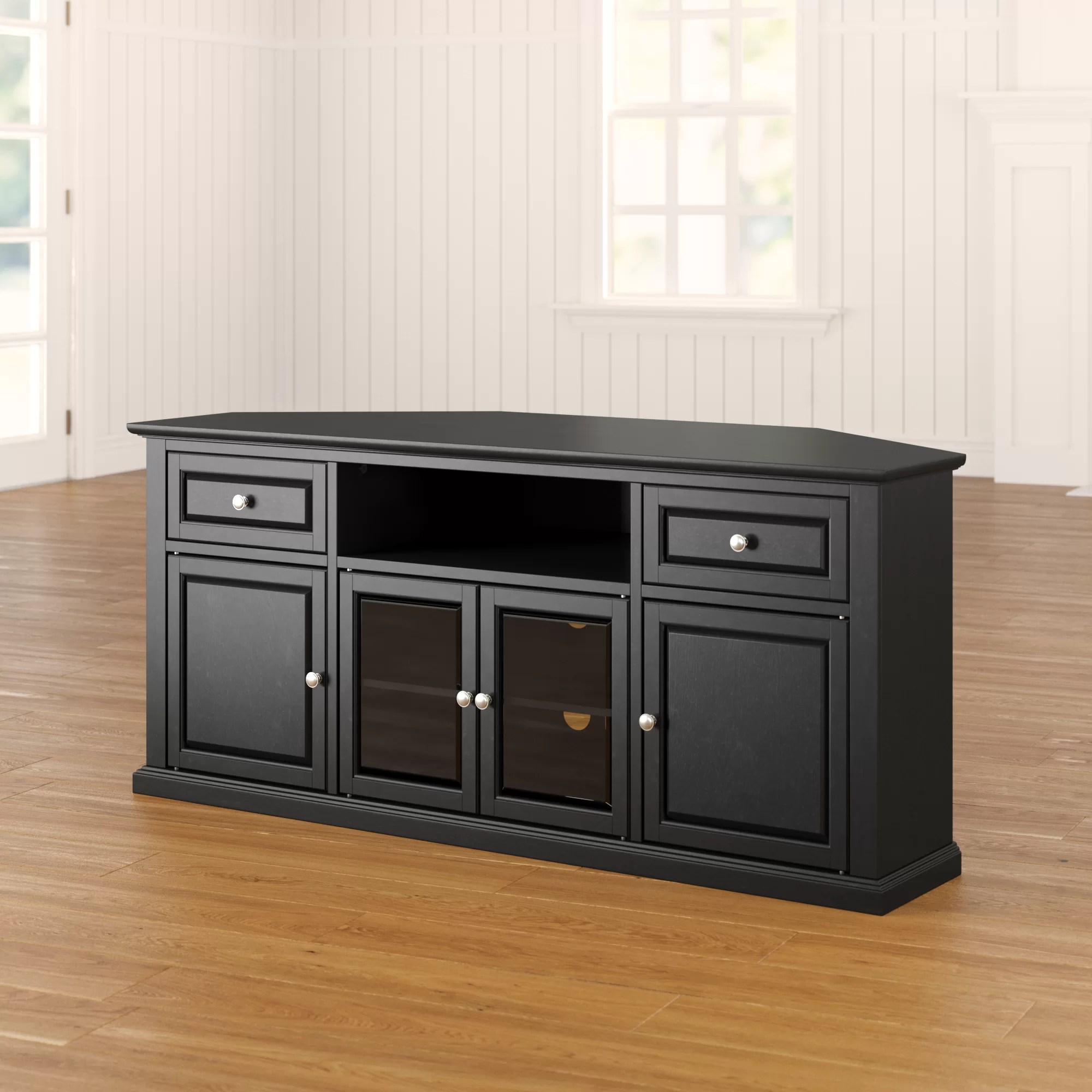 Charlton Home Whittiker Corner Tv Stand For Tvs Up To 65 Reviews