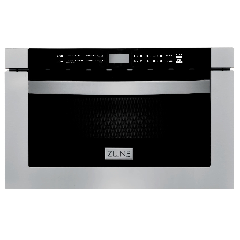 zline kitchen and bath black stainless steel 24 1 2 cubic feet cu ft 1000 watt watt microwave drawer