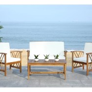 Medora 4 Piece Sofa Seating Group With Cushions
