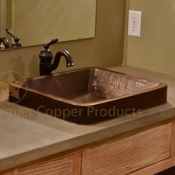 skirted metal rectangular vessel bathroom sink