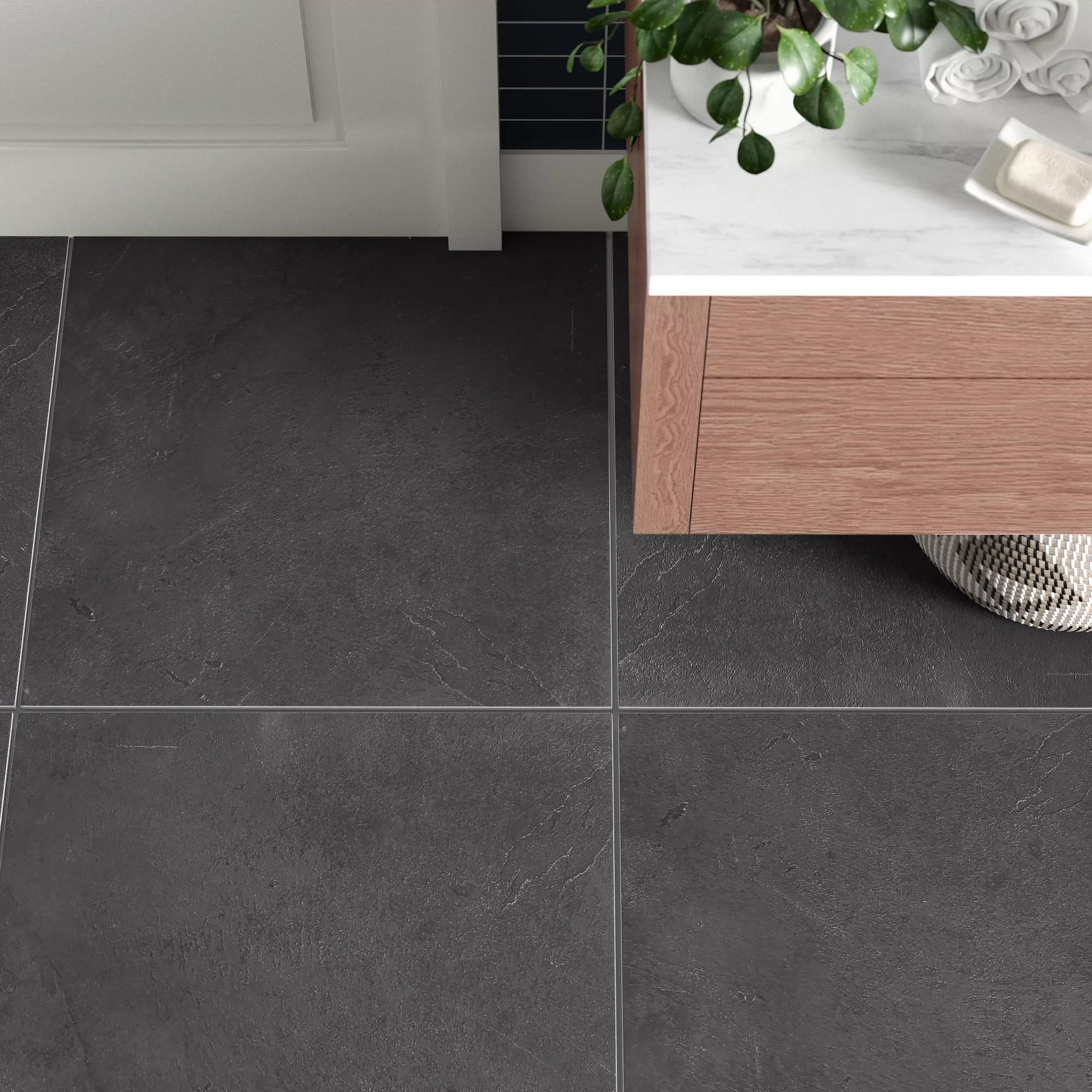 figueroa 24 x 24 slate stone look wall floor tile