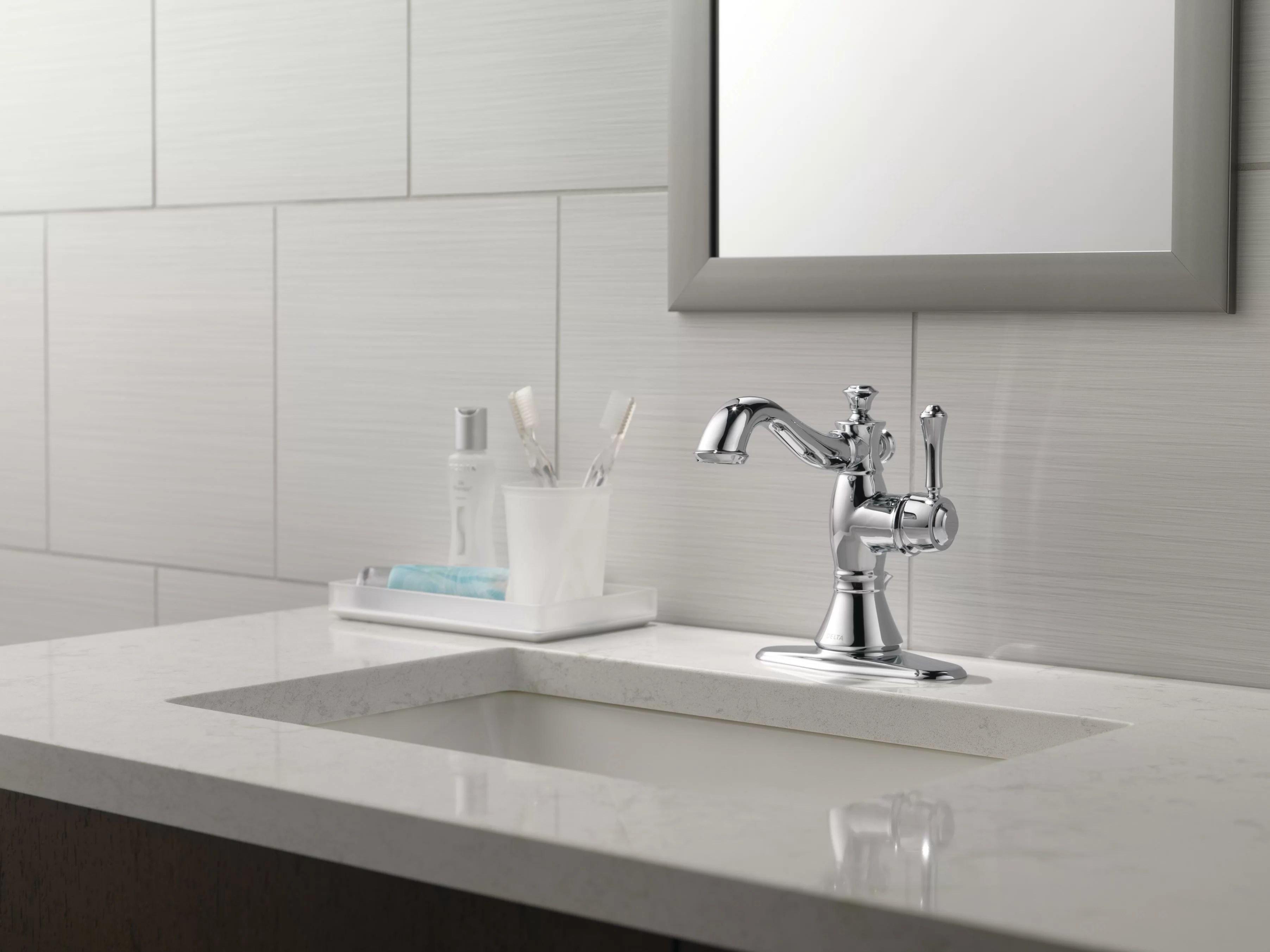 597lf pnmpu mpu czmpu delta cassidy single hole bathroom faucet with drain assembly reviews wayfair
