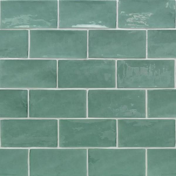 sage green subway tile