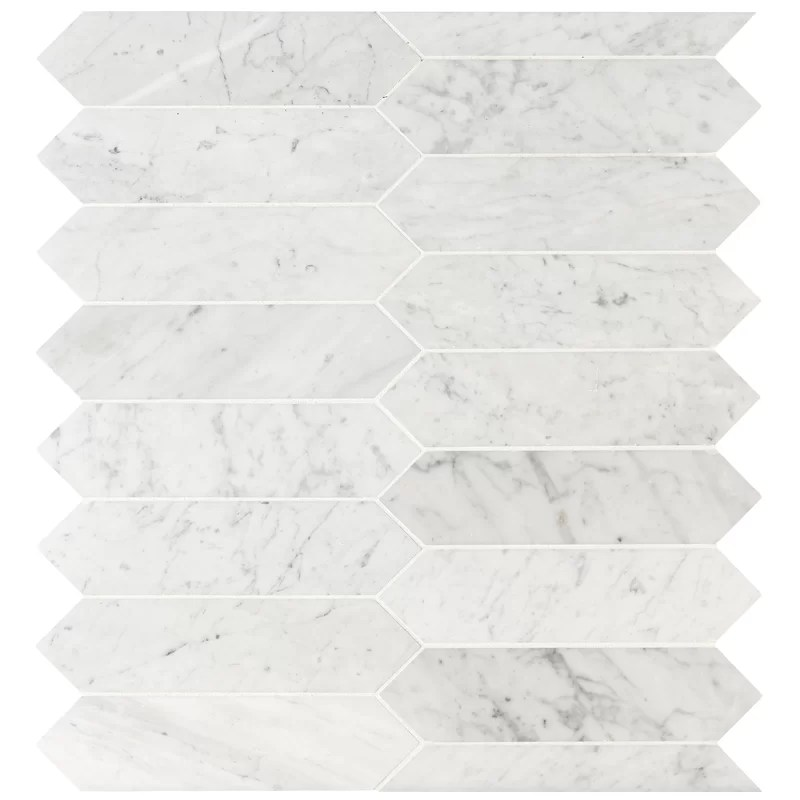 picket 3 x 12 marble mosaic tile
