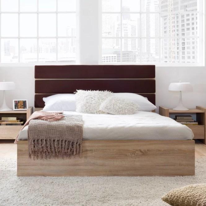 Venom Queen Upholstered Platform Bed With Mattress