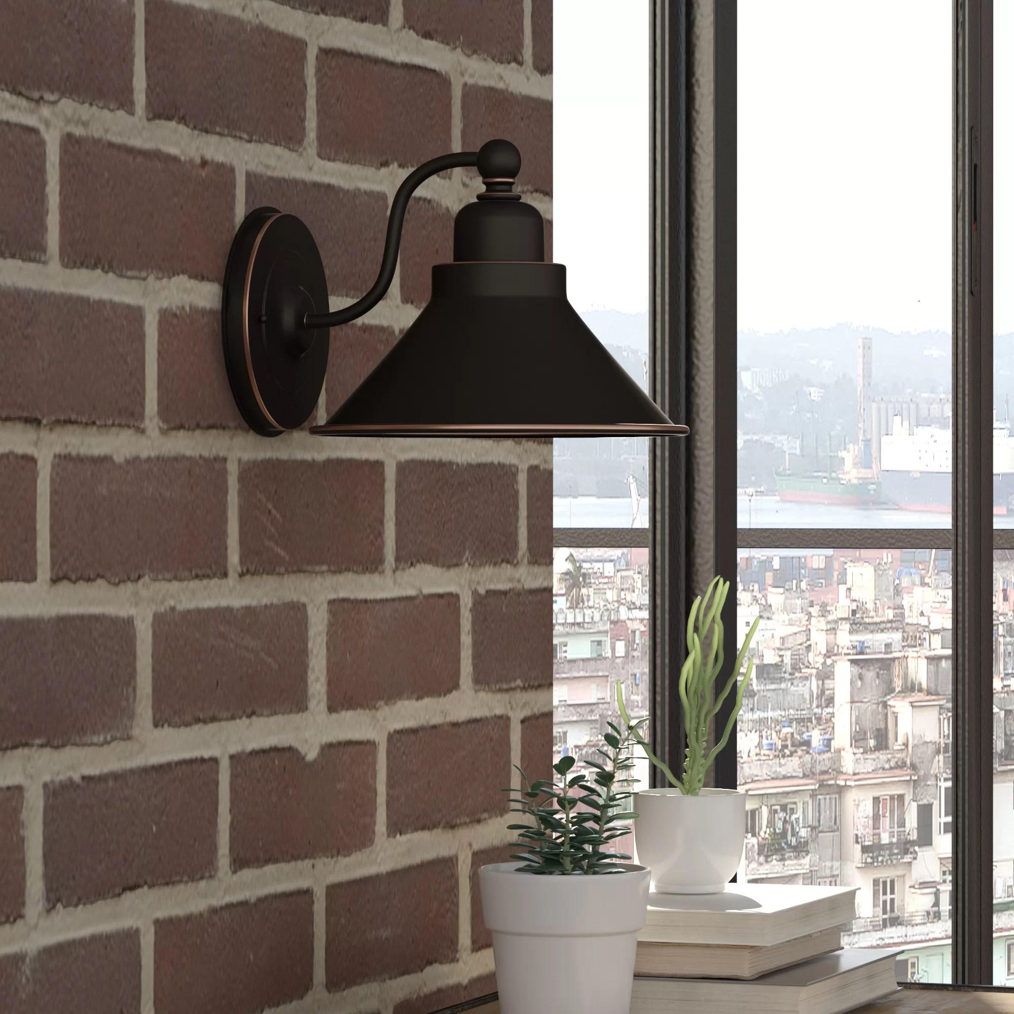 Trent Austin Design Schaff 1-Light Barn Light & Reviews ... on Wayfair Bathroom Sconces id=49166