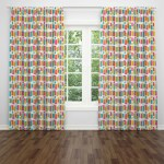 Folk N Funky Retro Mid Century Modern Window Curtains 2 Panels Wayfair