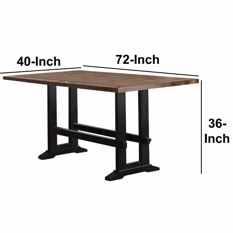 Gracie Oaks Amir Counter Height Solid Wood Dining Table Reviews Wayfair