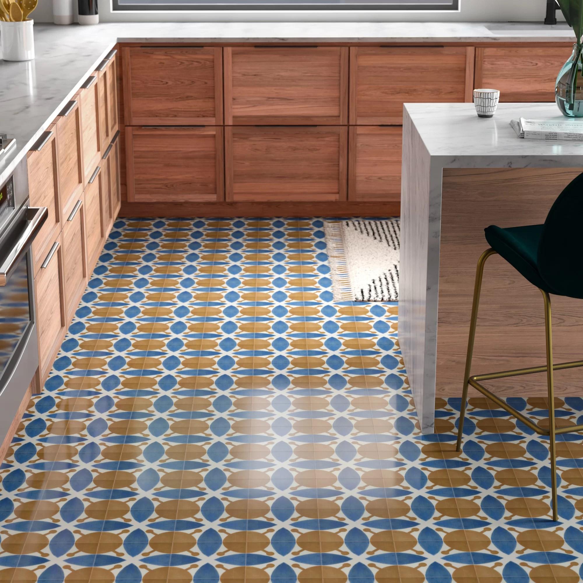 wes 8 x 8 ceramic field tile