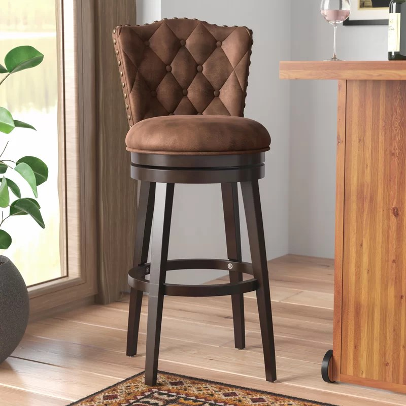 Marthasville Swivel Bar and Counter Stool