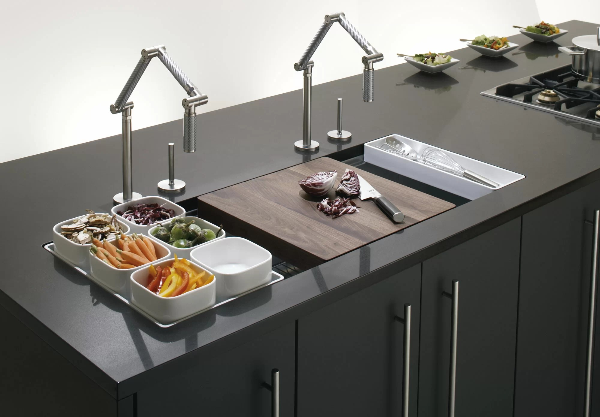 stages 45 l x 18 1 2 w x 9 13 16 undermount single bowl with wet surface area kitchen sink