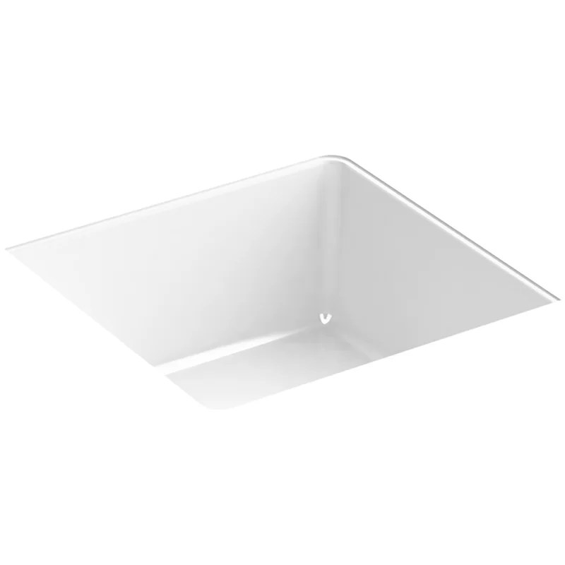 verticyl vitreous china square undermount bathroom sink with overflow
