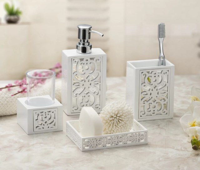 House Of Hampton Timmie  Piece Bathroom Accessories Set Reviews Wayfair