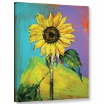 August Grove Sunflower Painting Print On Wrapped Canvas Reviews Wayfair