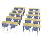 Marco Group Classroom Set 10 Multi Student Desks 20 Chairs Wayfair