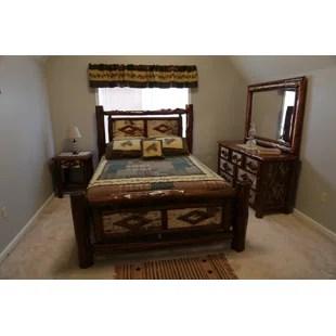 minehead standard solid wood configurable bedroom set
