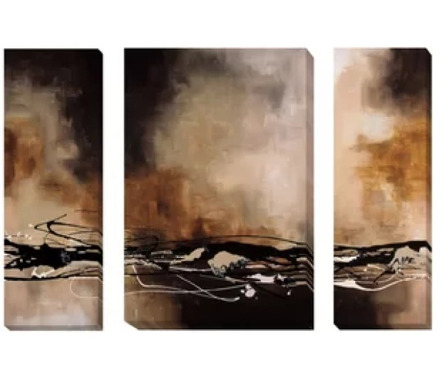Tobacco And Chocolate I Ii Iii By Laurie Maitland  Piece Painting Print On Wrapped Canvas Set