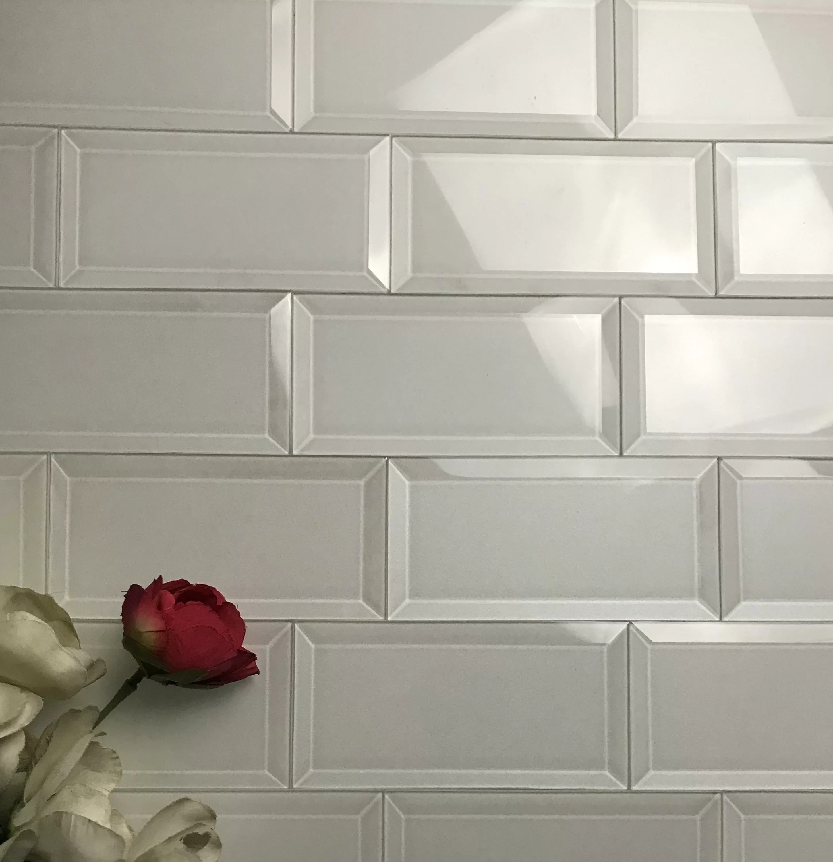 frosted elegance 3 x 6 glass peel stick subway tile