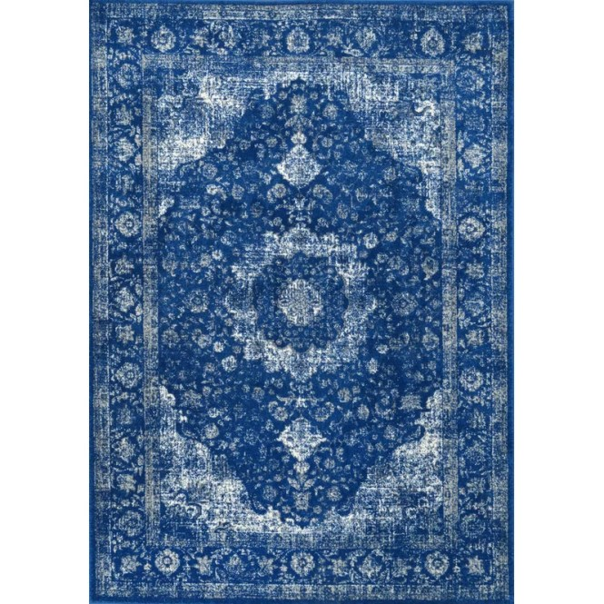 Geralyn Dark Blue Area Rug