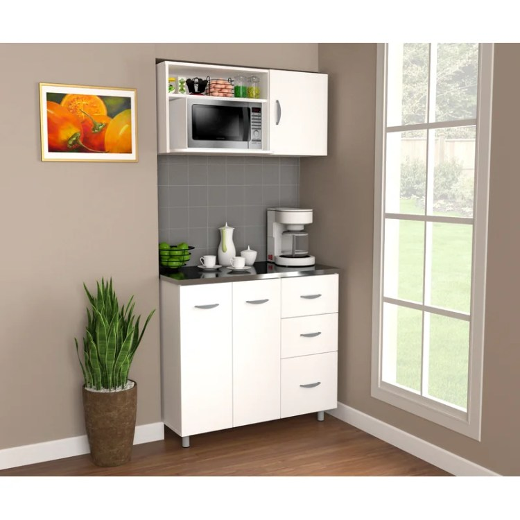 Brayden Studio Gassaway 36 73 Kitchen Pantry Wayfair