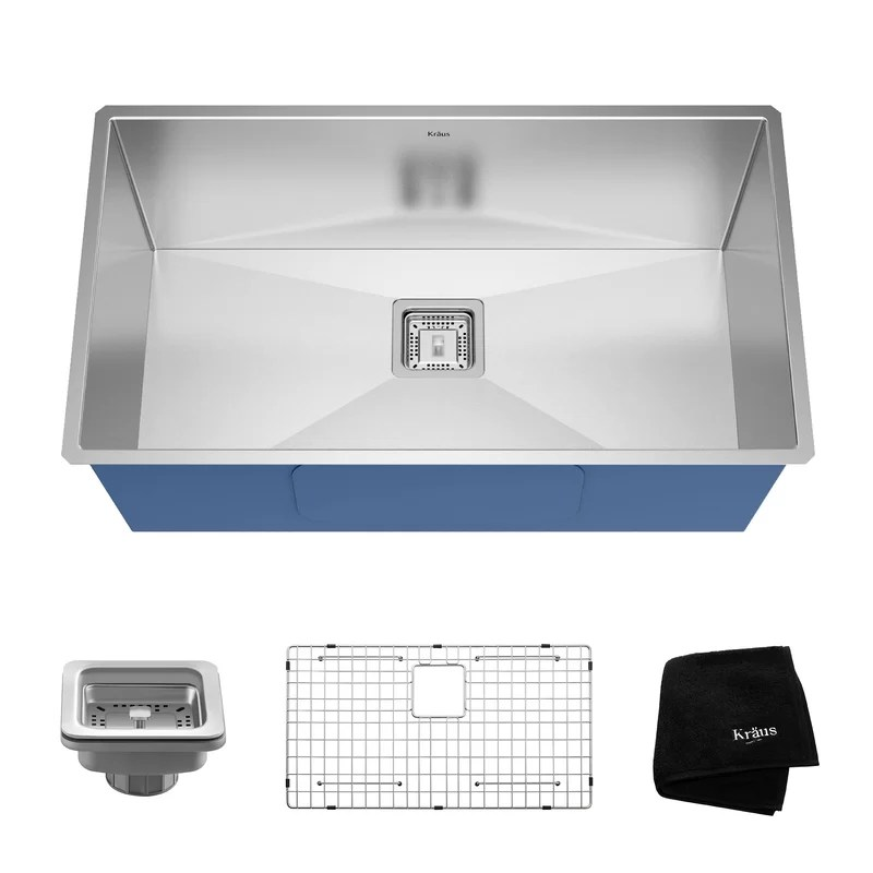 Pax™ 31 x 18 Undermount Kitchen Sink with Drain Assembly