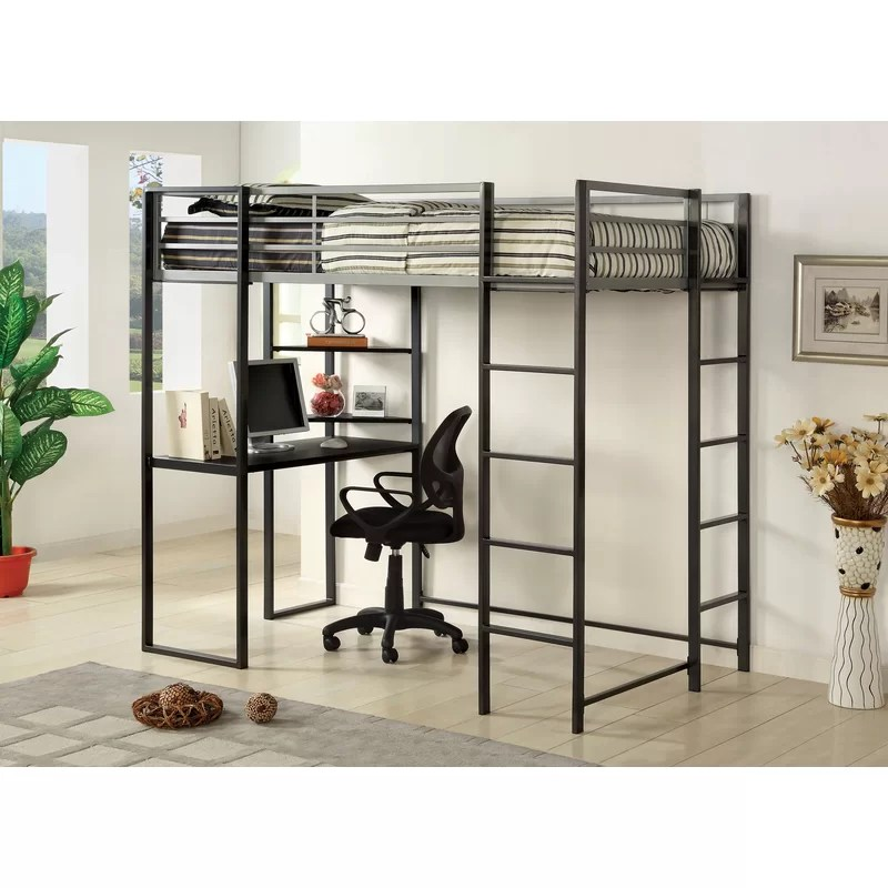 Loft Bed with Shelves