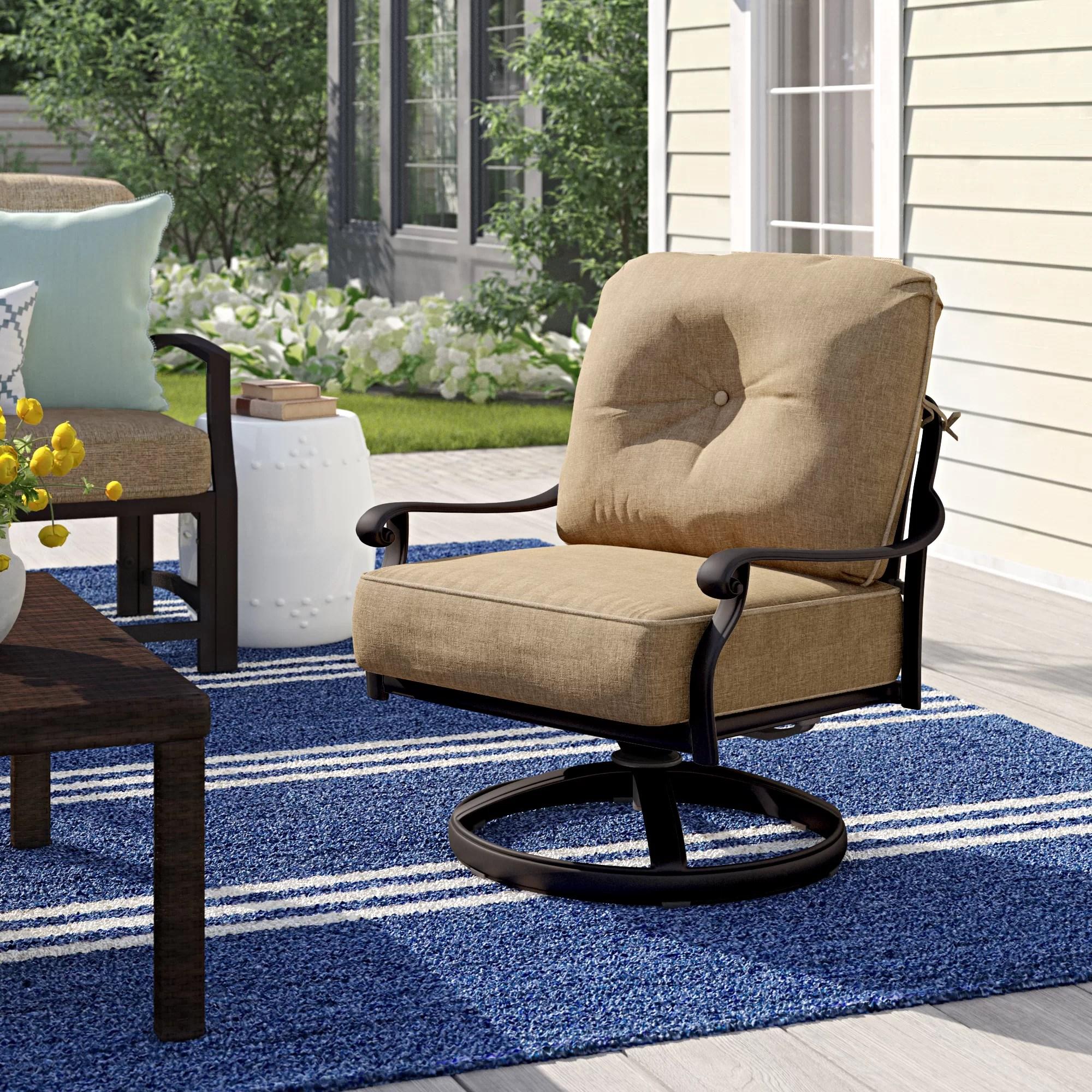 lebanon swivel rocker club patio chair with cushions