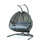 Leisuremod Wicker Hanging Double Egg Swing Chair Wayfair