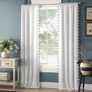 modern gray silver white curtains