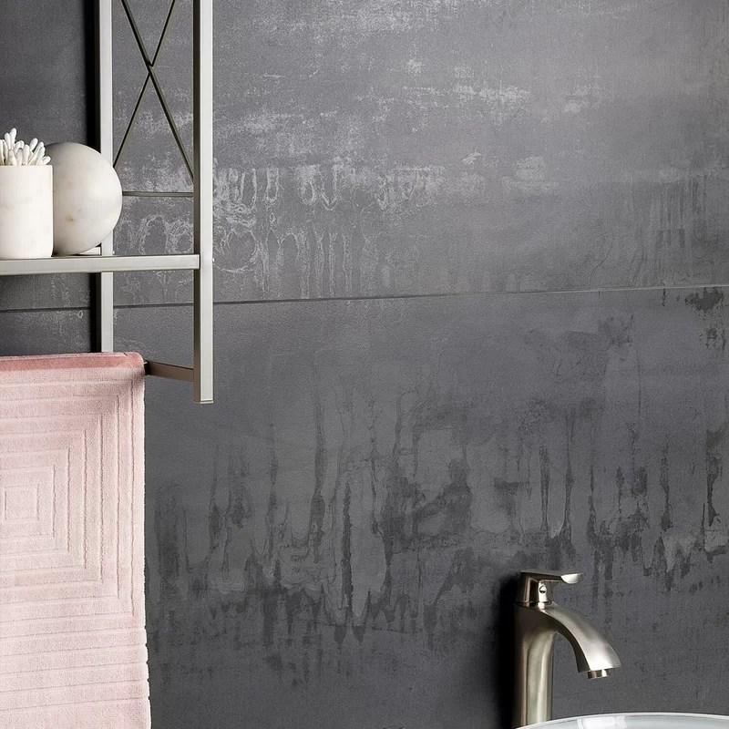 angela harris 24 x 48 porcelain metal look wall floor tile