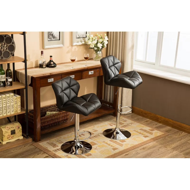 Leather Bar Stool Swivel
