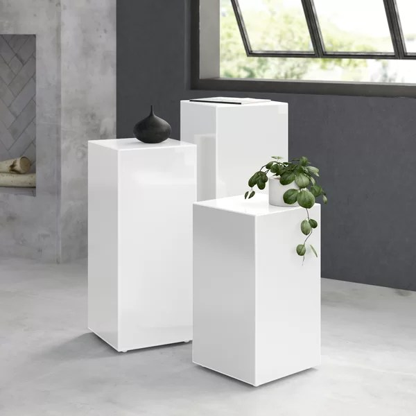 modern contemporary cube end table