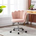 Mercer41 Desk Chair Velvet Task Chair Home Office Chair Adjustable Swivel Rolling Vanity Chair With Wheels For Adults Teens Bedroom Study Room Wayfair Ca
