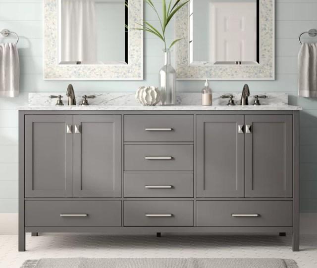 Beachcrest Home Newtown  Double Bathroom Vanity Set Reviews Wayfair