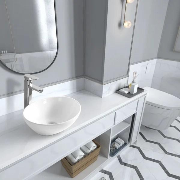 off center drain bathroom sink