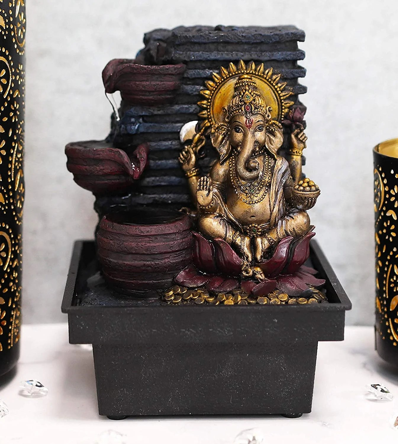 Bloomsbury Market Arryon Resin Hindu Vastu Supreme Elephant God Ganesha Fountain Reviews Wayfair