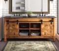 Millwood Pines Estancia Barn Door 72 Double Bathroom Vanity Set Reviews