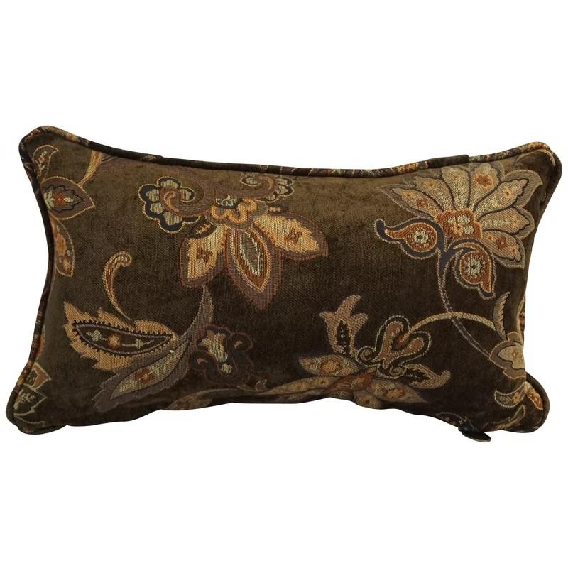astin chenille floral lumbar pillow