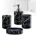 Immanuel 3d Marble Bathroom Accessory Set Reviews Wayfair
