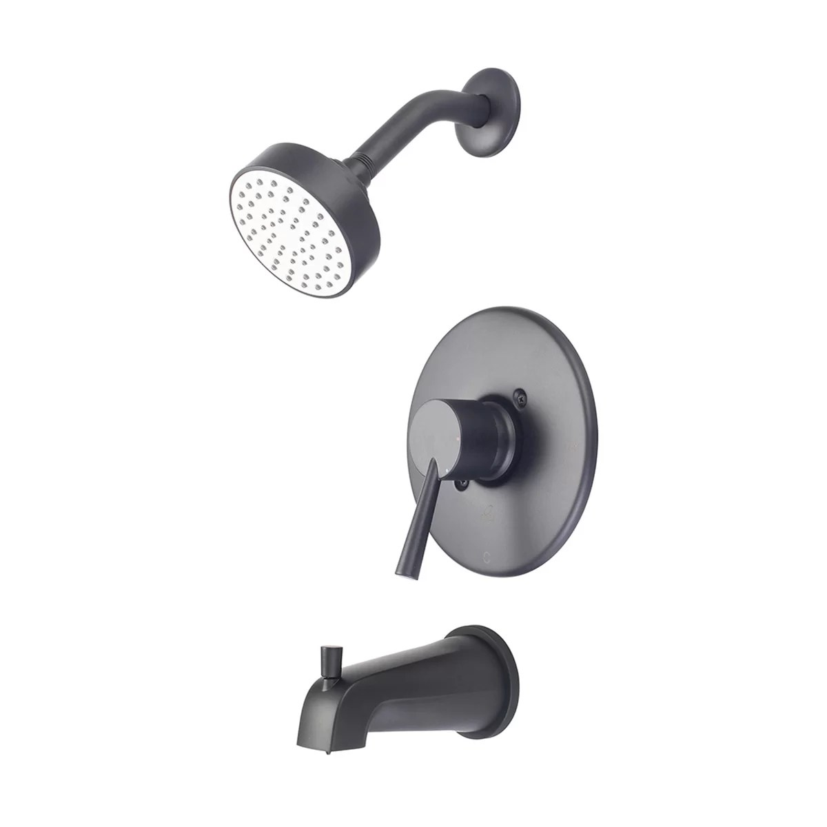 Single Lever Handle Tub And Shower Faucet With Diverter