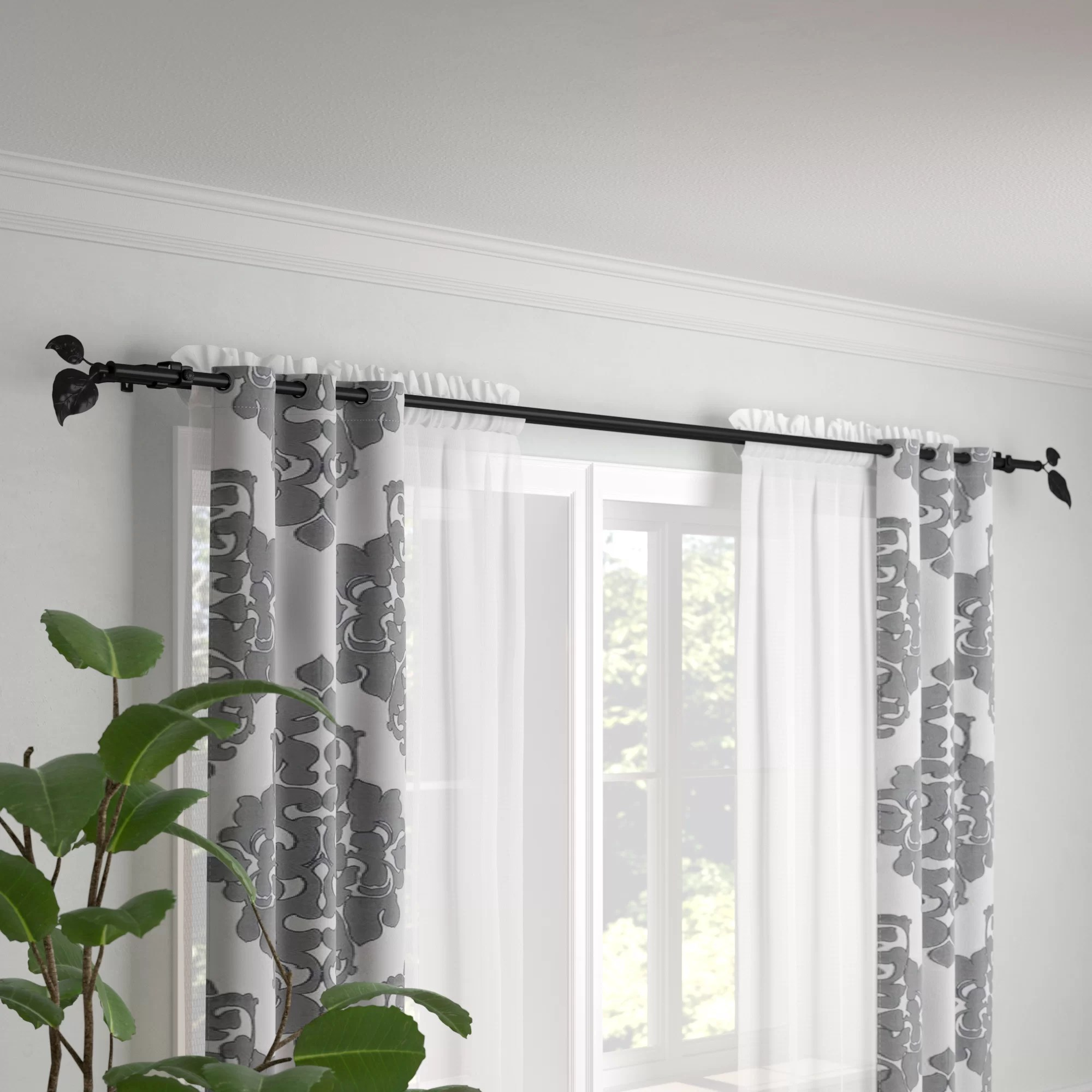 Three Posts Sycamore Double Curtain Rod Reviews Wayfair