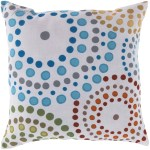Ebern Designs Linares Bright Blue Lime Burnt Orange Outdoor Throw Pillow Reviews