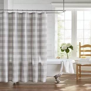 zuniga living buffalo check 100 cotton single shower curtain