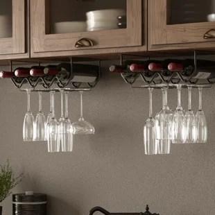 spinella 4 bottle hanging wine bottle glass rack