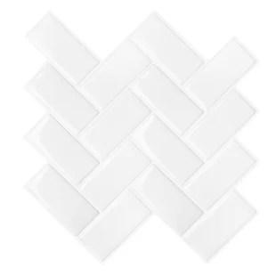 12 x 12 pvc peel stick subway tile set of 12