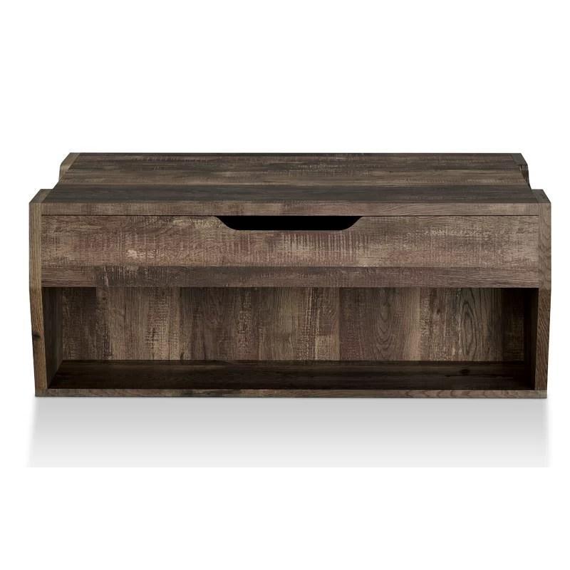 table basse a plateau relevable avec rangement et tablette macsen