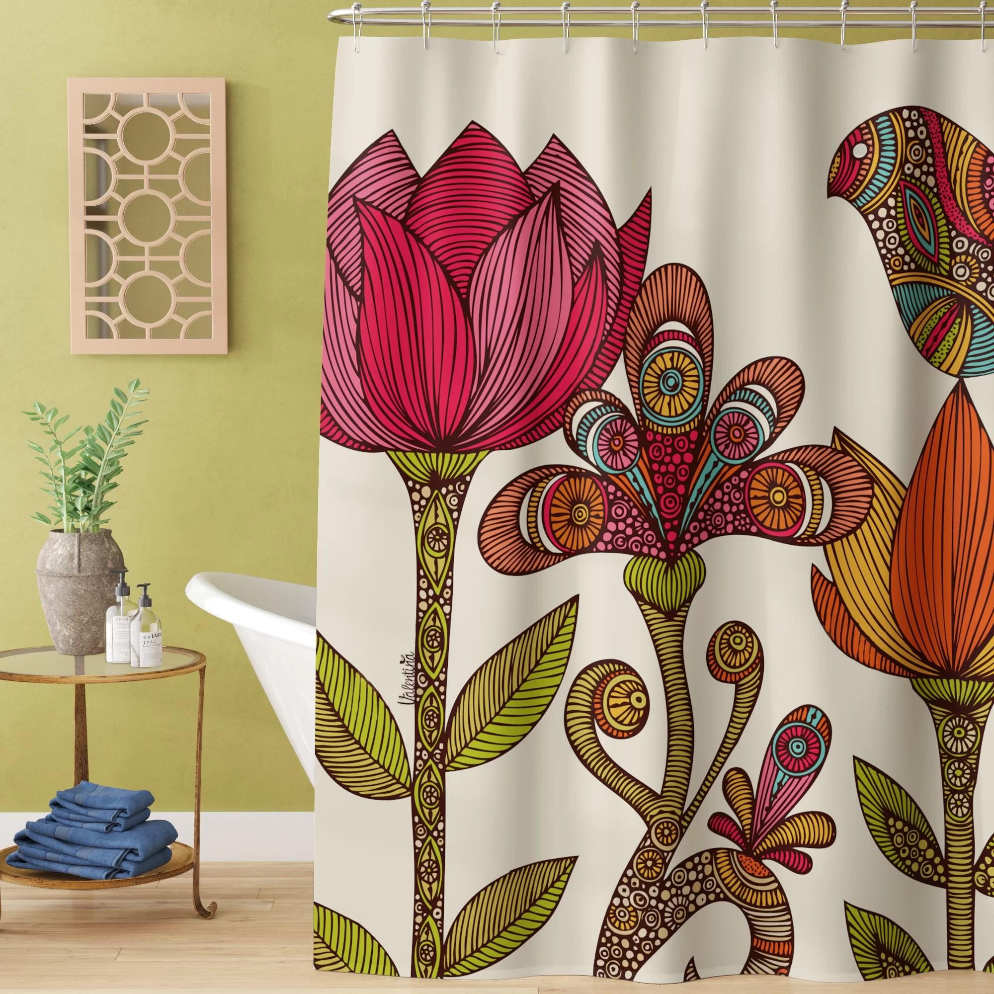 mysliwiec seafoam single shower curtain
