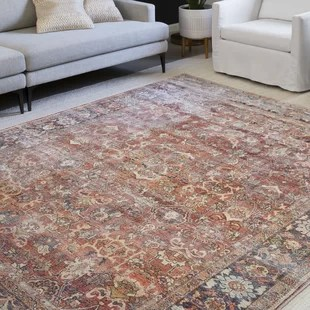 wicksham persian inspired spice area rug