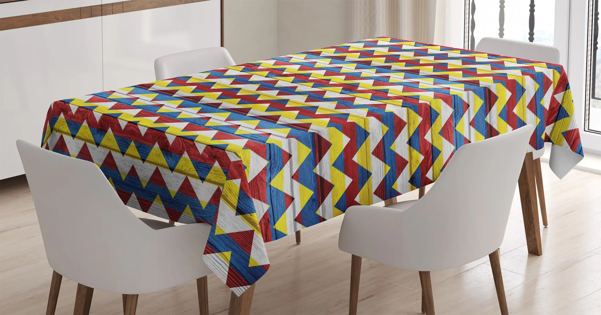 vintage shapes tablecloth ambesonne 3